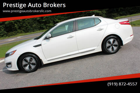 2013 Kia Optima Hybrid for sale at Prestige Auto Brokers in Raleigh NC