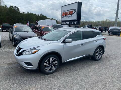 2017 Nissan Murano for sale at Billy Ballew Motorsports in Dawsonville GA