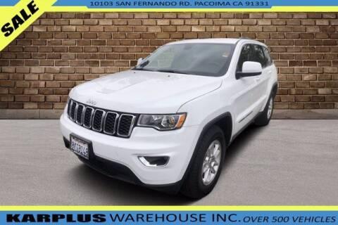 2019 Jeep Grand Cherokee for sale at Karplus Warehouse in Pacoima CA