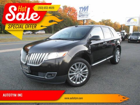 2013 Lincoln MKX for sale at AUTOTYM INC in Fredericksburg VA