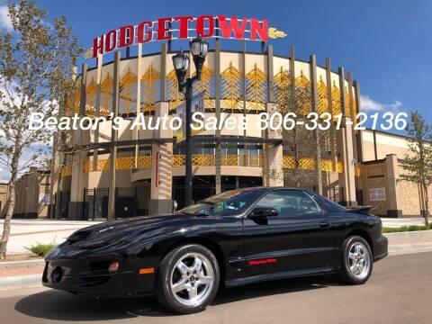 2002 Pontiac Firebird for sale at Beaton's Auto Sales in Amarillo TX