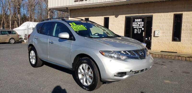 2012 Nissan Murano for sale at 220 Auto Sales LLC in Madison NC