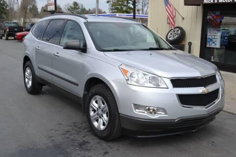 2012 Chevrolet Traverse for sale at Nick's Motor Sales LLC in Kalkaska MI
