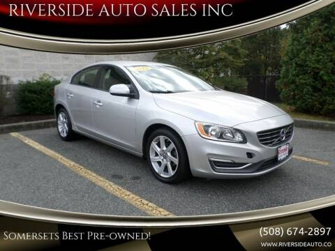 2015 Volvo S60 for sale at RIVERSIDE AUTO SALES INC in Somerset MA