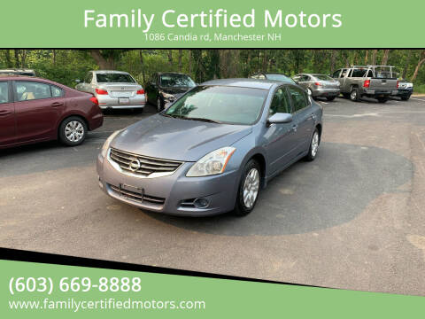 2012 Nissan Altima for sale at Family Certified Motors in Manchester NH