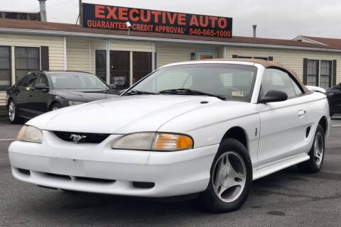 1998 Ford Mustang for sale at Executive Auto in Winchester VA