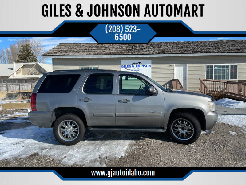 2007 Chevrolet Tahoe for sale at GILES & JOHNSON AUTOMART in Idaho Falls ID