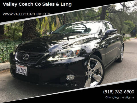 2012 Lexus IS 250C for sale at Valley Coach Co Sales & Lsng in Van Nuys CA