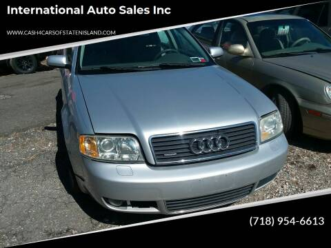 2004 Audi A6 for sale at International Auto Sales Inc in Staten Island NY