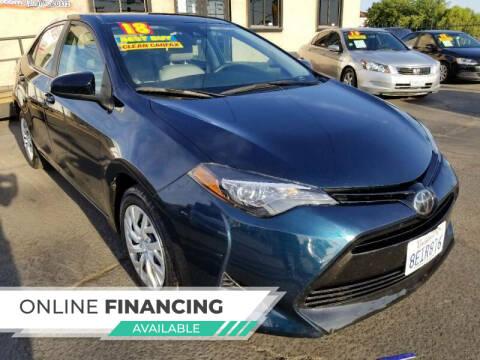 2018 Toyota Corolla for sale at Super Cars Sales Inc #1 - Super Auto Sales Inc #2 in Modesto CA
