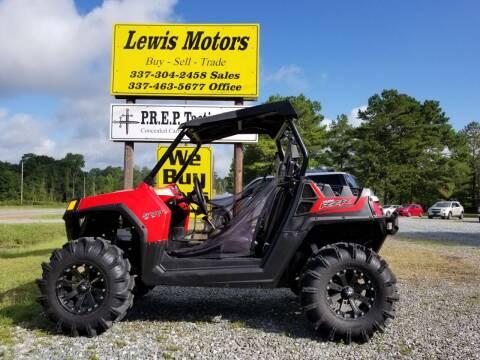 2014 Polaris RZR for sale at Lewis Motors LLC in Deridder LA