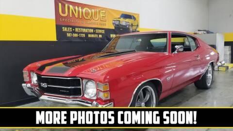 1971 Chevrolet Chevelle for sale at UNIQUE SPECIALTY & CLASSICS in Mankato MN