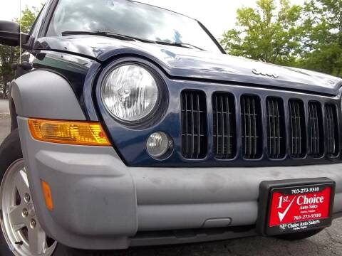 2006 Jeep Liberty for sale at 1st Choice Auto Sales in Fairfax VA