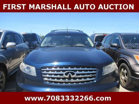 2005 Infiniti FX35 for sale at First Marshall Auto Auction in Harvey IL