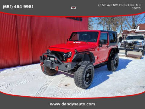 2010 Jeep Wrangler for sale at Dandy's Auto Sales in Forest Lake MN