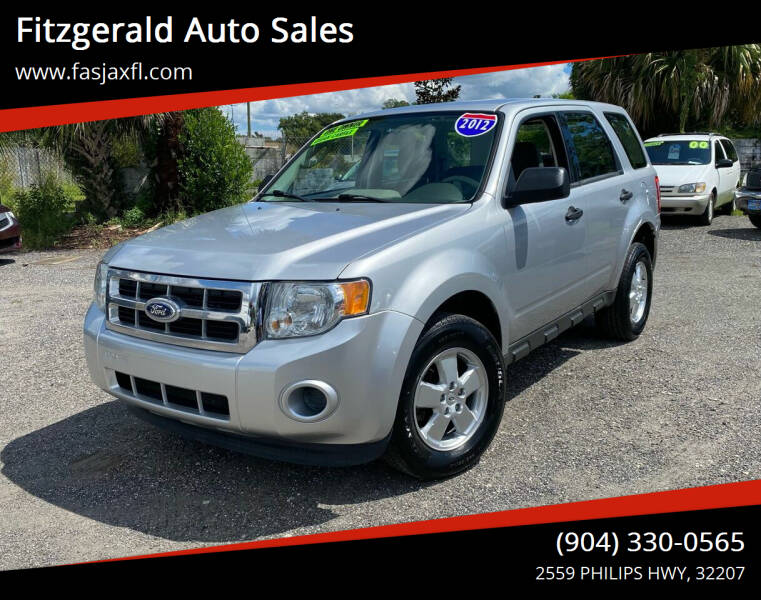 2012 Ford Escape for sale at Fitzgerald Auto Sales in Jacksonville FL
