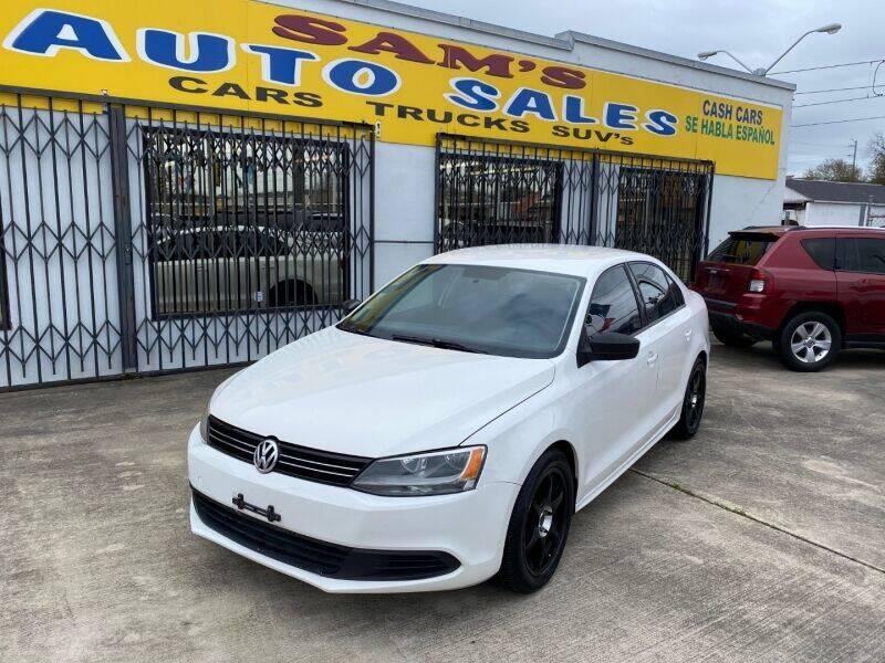 2011 Volkswagen Jetta for sale at Sam's Auto Sales in Houston TX