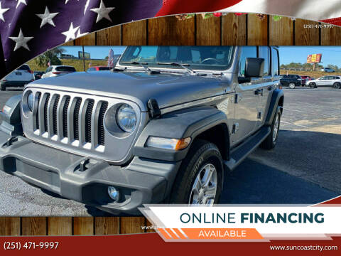 2019 Jeep Wrangler Unlimited for sale at Sun Coast City Auto Sales in Mobile AL