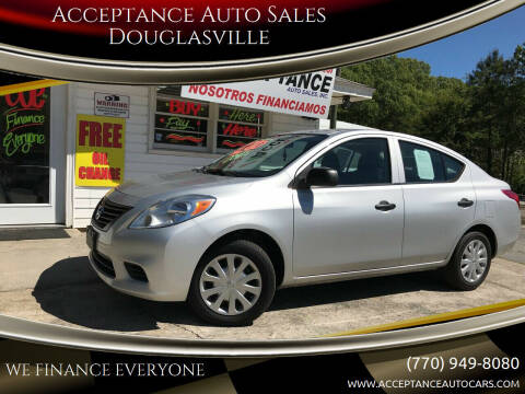 2012 Nissan Versa for sale at Acceptance Auto Sales Douglasville in Douglasville GA