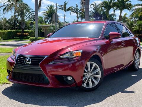 2015 Lexus IS 250 for sale at HIGH PERFORMANCE MOTORS in Hollywood FL