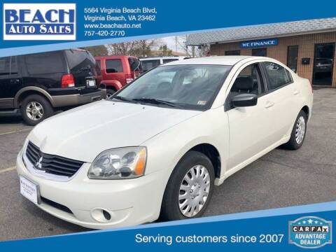 2007 Mitsubishi Galant for sale at Beach Auto Sales in Virginia Beach VA