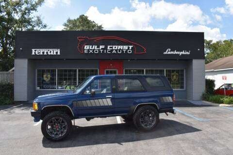 1986 Toyota 4Runner for sale at Gulf Coast Exotic Auto in Biloxi MS