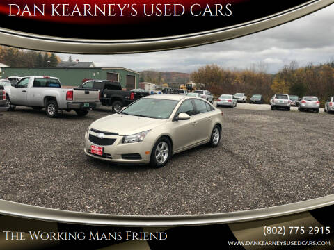 2014 Chevrolet Cruze for sale at DAN KEARNEY'S USED CARS in Center Rutland VT