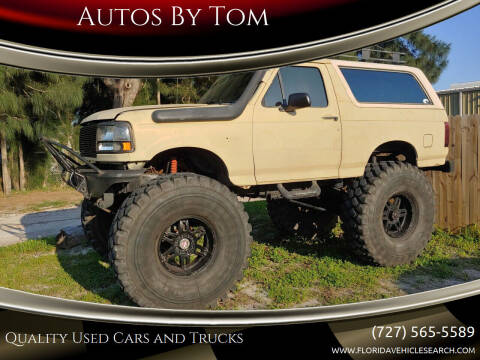 1992 Ford Bronco for sale at Autos by Tom in Largo FL