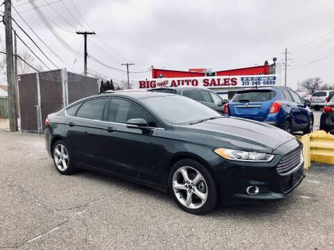 2015 Ford Fusion for sale at Big Three Auto Sales Inc. in Detroit MI