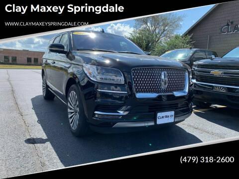2018 Lincoln Navigator for sale at Clay Maxey Springdale in Springdale AR