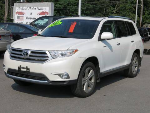 2013 Toyota Highlander for sale at United Auto Service in Leominster MA