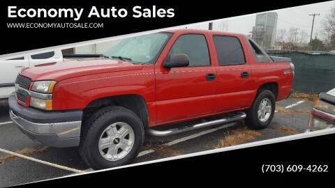 2004 Chevrolet Avalanche for sale at Economy Auto Sales in Dumfries VA