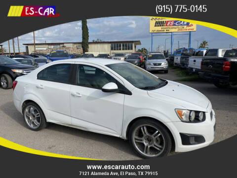 2016 Chevrolet Sonic for sale at Escar Auto in El Paso TX