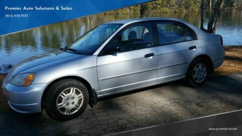 2001 Honda Civic for sale at Premier Auto Solutions & Sales in Quinton VA