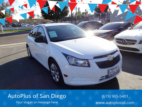 2014 Chevrolet Cruze for sale at AutoPlus of San Diego in Spring Valley CA