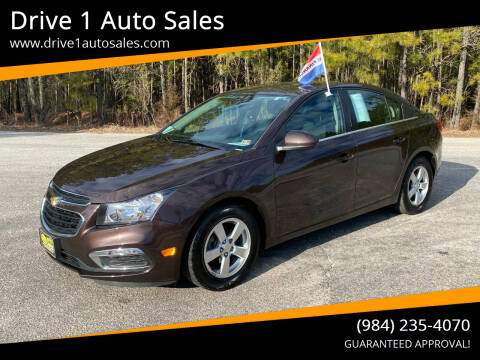 2015 Chevrolet Cruze for sale at Drive 1 Auto Sales in Wake Forest NC