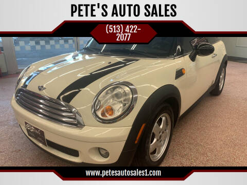 2007 MINI Cooper for sale at PETE'S AUTO SALES LLC - Middletown in Middletown OH