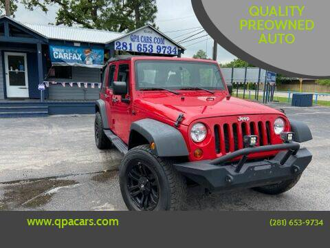 2011 Jeep Wrangler Unlimited for sale at QUALITY PREOWNED AUTO in Houston TX