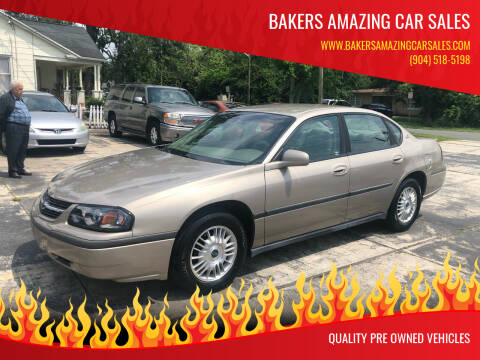 2003 Chevrolet Impala for sale at Bakers Amazing Car Sales in Jacksonville FL