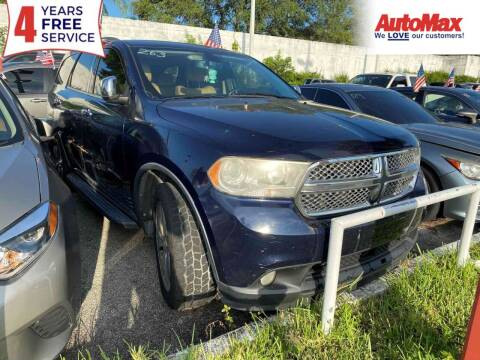 2013 Dodge Durango for sale at Auto Max in Hollywood FL