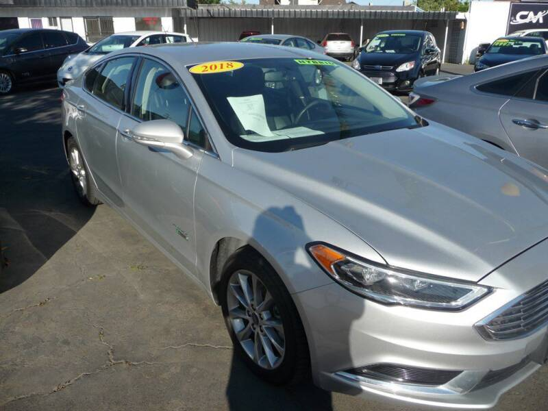 2018 Ford Fusion Energi for sale at CENTURY MOTORS in Fresno CA