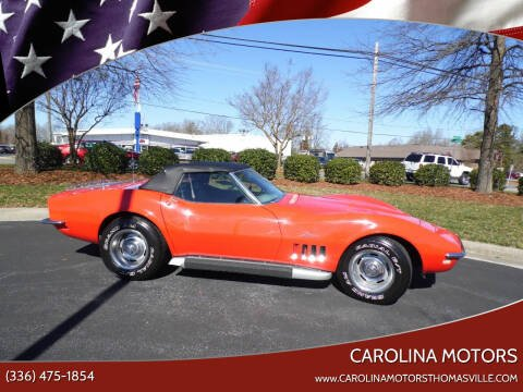 1968 Chevrolet Corvette for sale at CAROLINA MOTORS - Carolina Classics & More-Thomasville in Thomasville NC