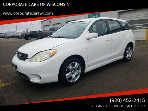 2007 Toyota Matrix for sale at CORPORATE CARS OF WISCONSIN in Sheboygan WI