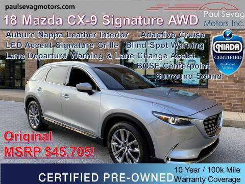 2018 Mazda CX-9 for sale at Paul Sevag Motors Inc in West Chester PA