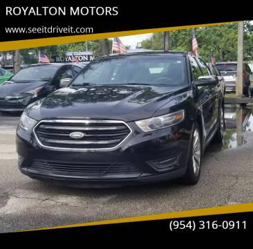 2015 Ford Taurus for sale at ROYALTON MOTORS in Plantation FL
