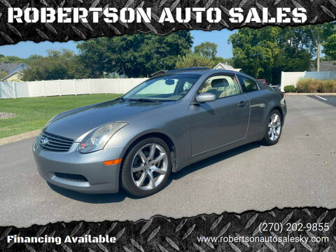 2004 Infiniti G35 for sale at ROBERTSON AUTO SALES in Bowling Green KY