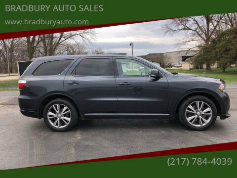 2013 Dodge Durango for sale at BRADBURY AUTO SALES in Gibson City IL