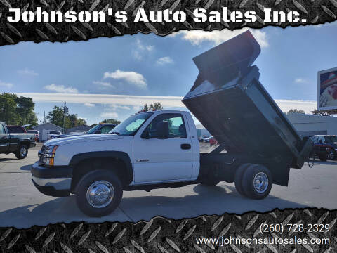 2003 Chevrolet Silverado 3500 for sale at Johnson's Auto Sales Inc. in Decatur IN