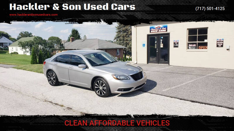 2013 Chrysler 200 for sale at Hackler & Son Used Cars in Red Lion PA