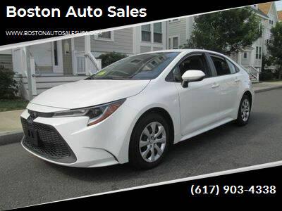 2020 Toyota Corolla for sale at Boston Auto Sales in Brighton MA